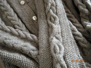 alpaca cable seed stitch sweater