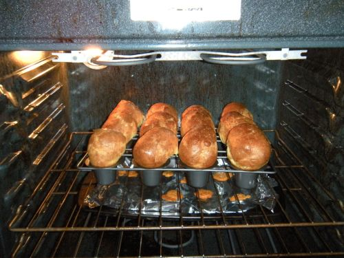 popovers in the oven