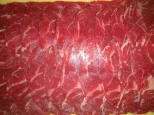 Rib eye for sukiyaki