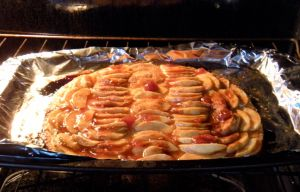 . . . apple tart baked this morning