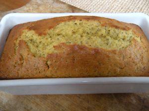 . . . lemon poppyseed pound cake in the pan