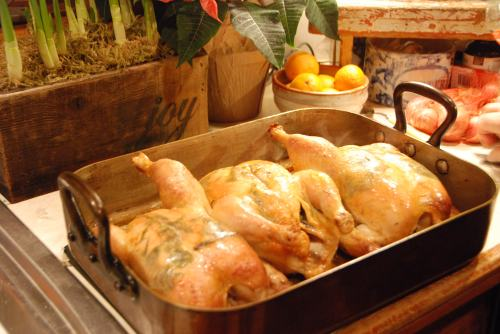 roasted birds just out of the oven . . .