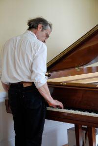 G. at the piano. . .