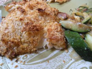 fried chicken & zucchini. . .