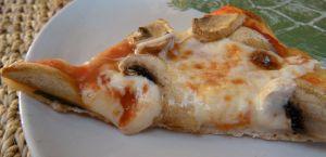 a slice of mushroom pizza . . .