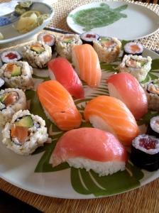 fresh sushi . . .