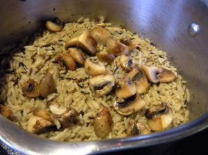wild rice and mushrooms