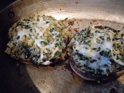 cooked portobella mushroom dish . . .