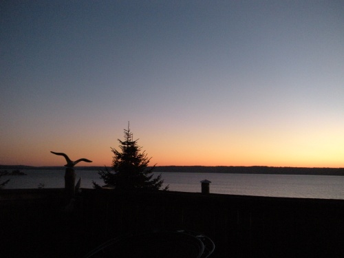 sun setting . . .