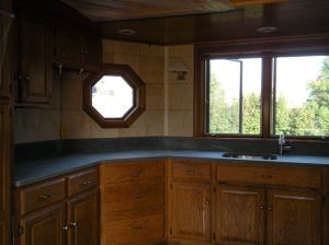 left side raw countertop. . .