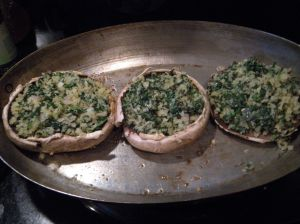 mushrooms with spinach 2