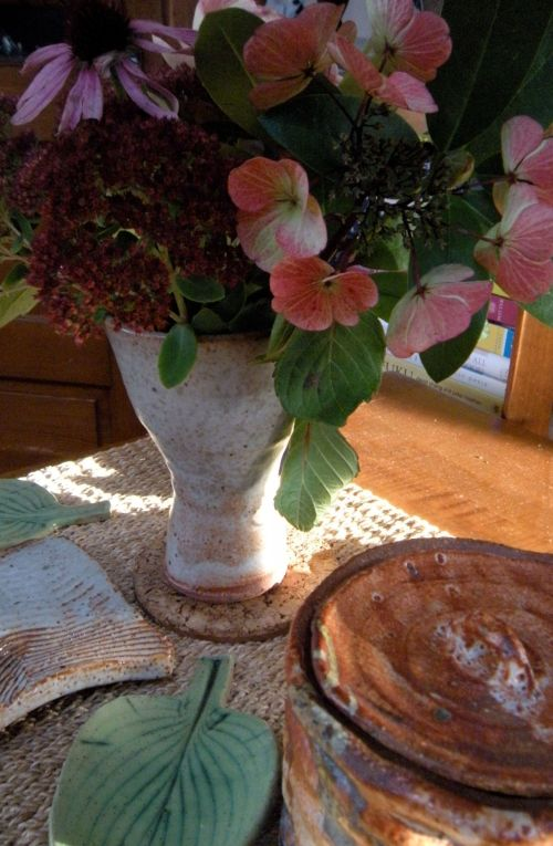 fall flowers from the garden . . .