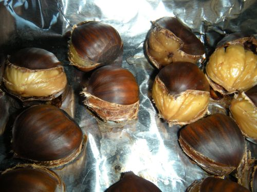 roasted chestnuts worth their weight in gold . . .