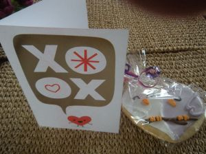 sweet V-card and cookie . . .