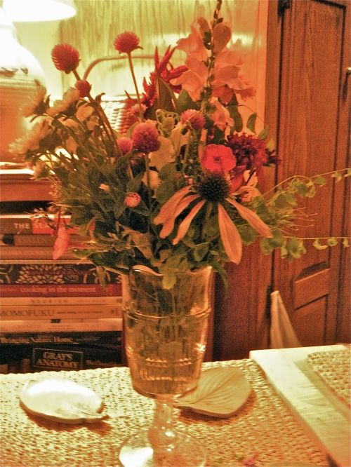 a sweet bouquet given to me by my daughter. . .
