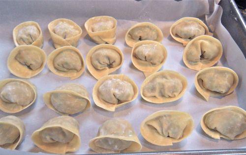 folded dumplings