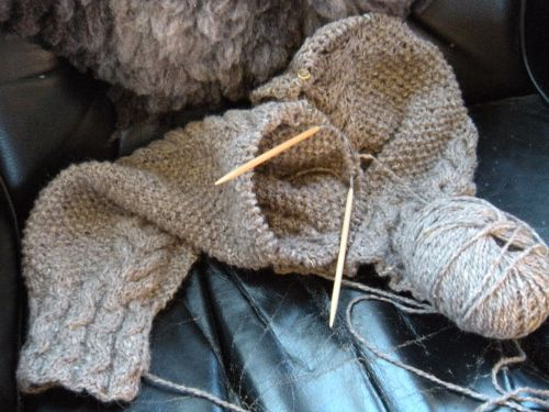 knitting in place . . .