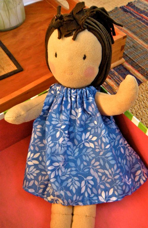 doll with new dress