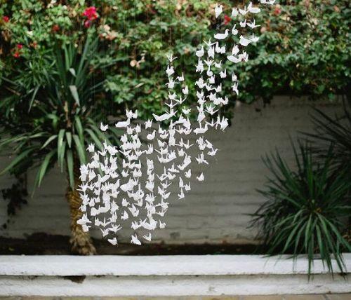 flock of origami birds