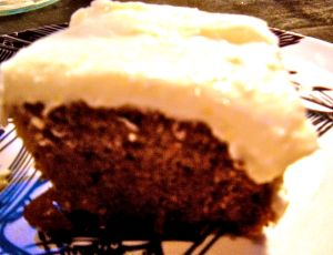 carrot-orange cake with cream cheese frosting. . .