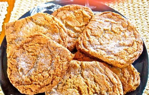 ginger molasses cookies title