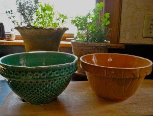 McCoy pottery bowls. . .