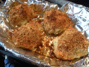 oven-fried chicken thighs . . .